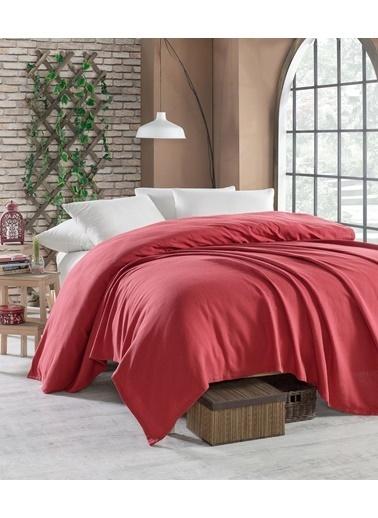 EnLora Home Enlora %100 Pamuk Casuel Pike Örtü Tek Kişilik Kırmızı